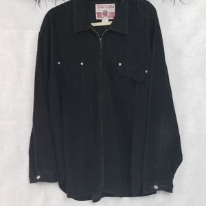 LMON & SODA black corduroy long sleeve full zip xl